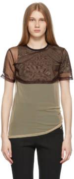 ADER error Brown & Beige Overlap T-Shirt