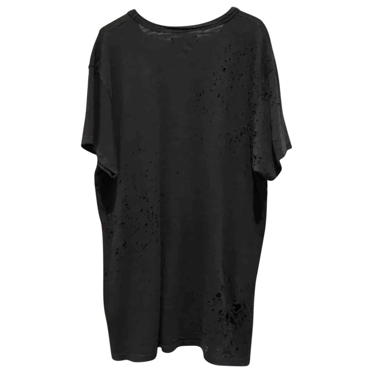 Amiri Anthracite Cotton T-shirt