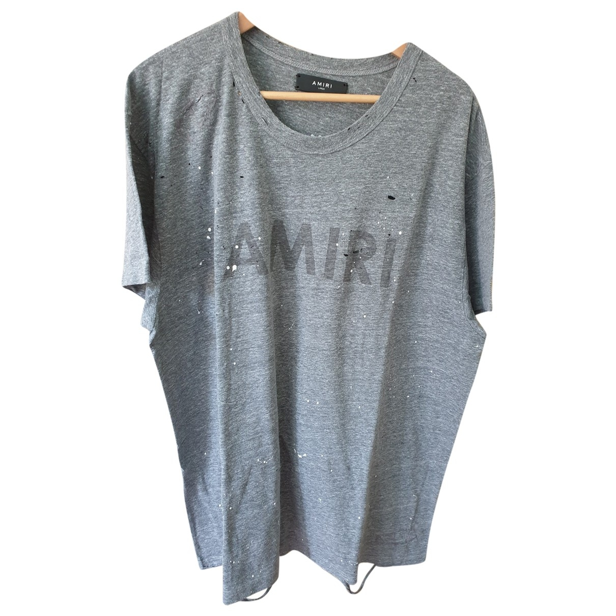Amiri Grey Cotton T-shirt