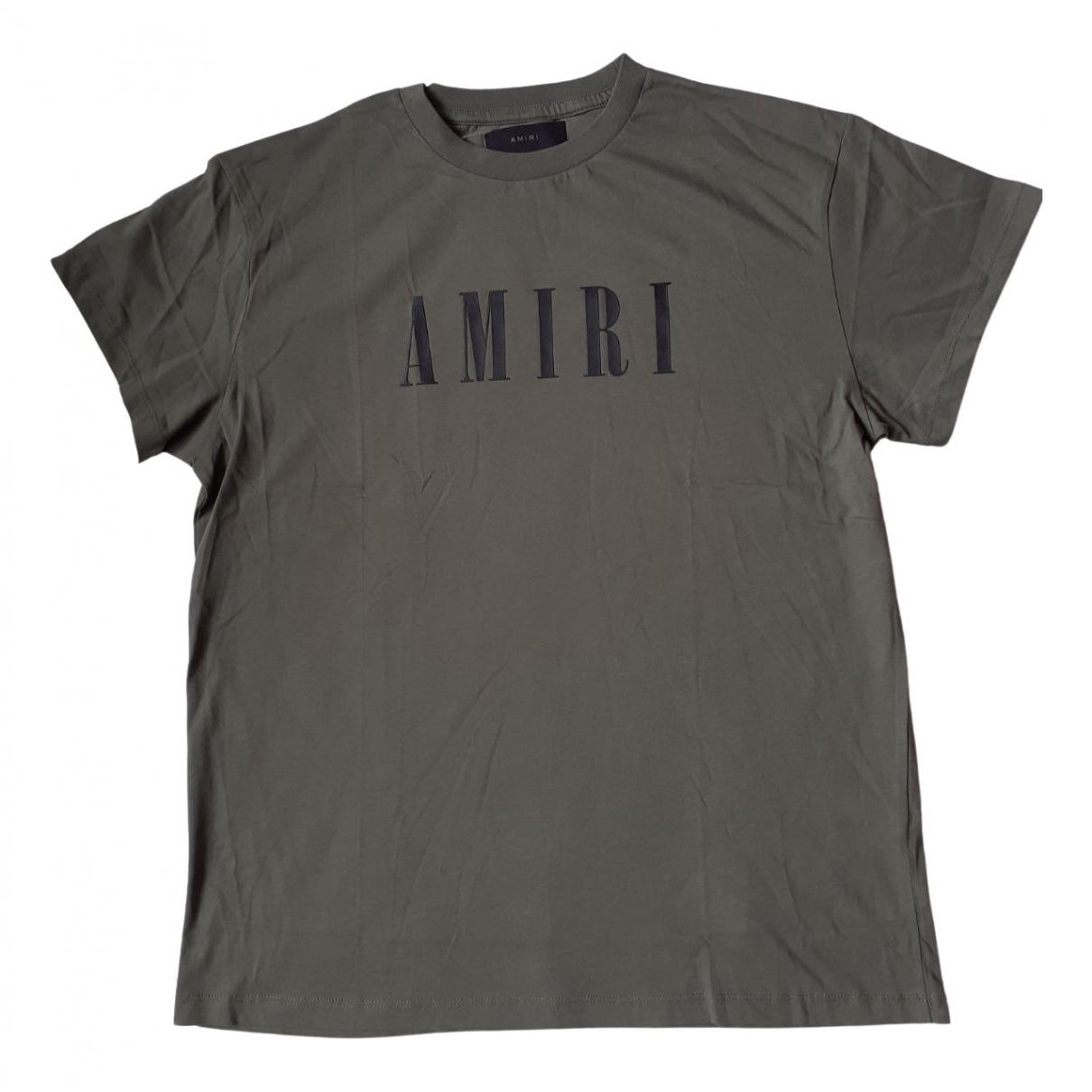 Amiri Khaki Cotton T-shirt