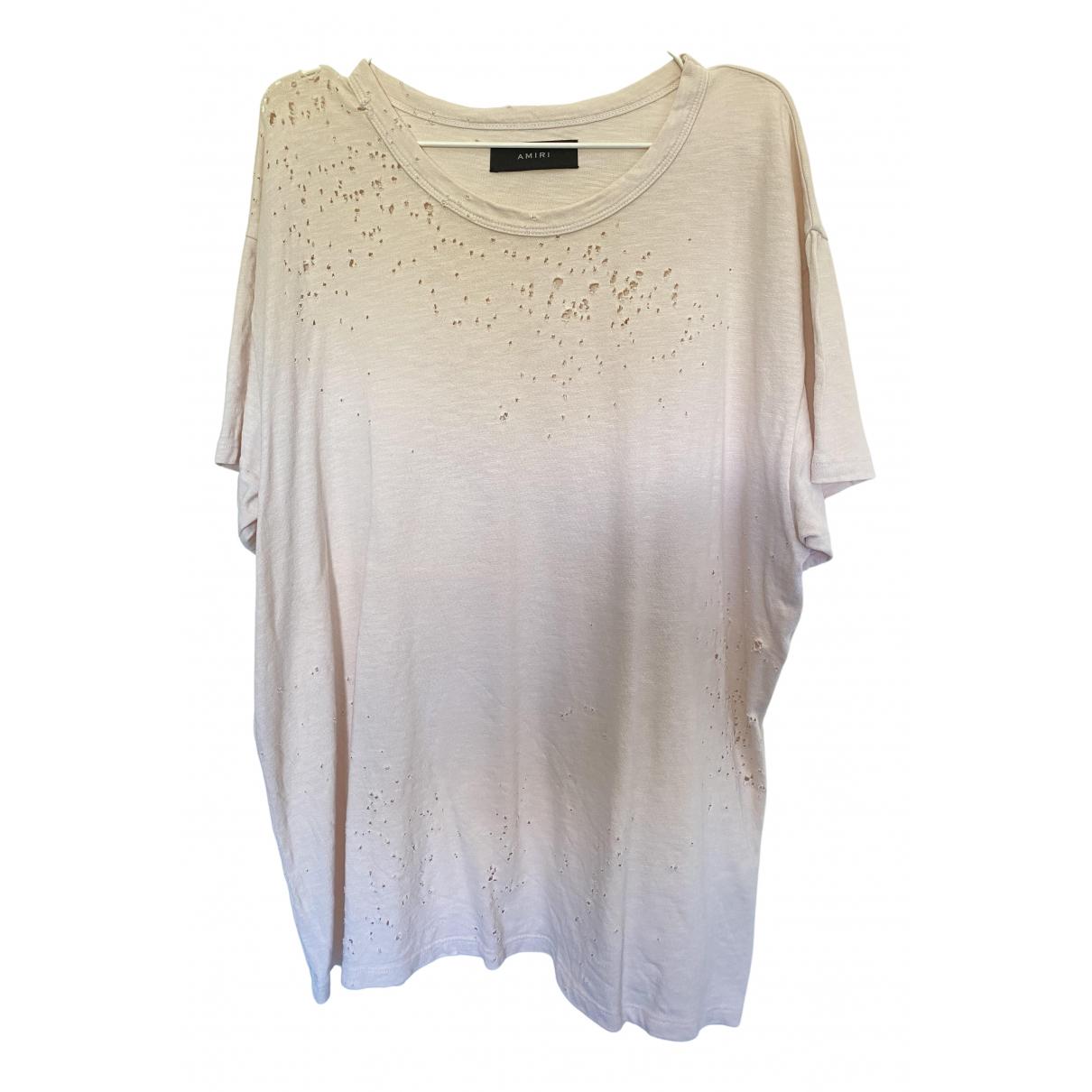 Amiri Pink Cotton T-shirt