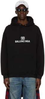 Balenciaga Black Pixel Logo Hoodie
