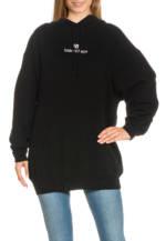 Balenciaga Long-Hoodie schwarz