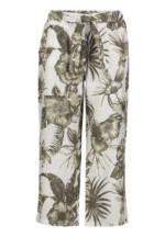 Betty Barclay Hose, 7/8 Länge, floral, für Herren, White/Green, 36