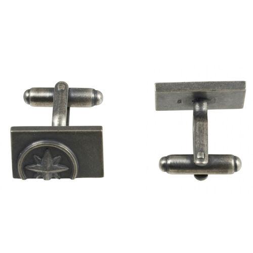Cai Herren Manschettenknöpfe 925/- Sterling Silber 1,9cm, silbergrau