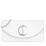 Christian Louboutin Clutches - Loubi54 Crosbody Bag Leather - in weiß - für Damen