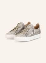 Giuseppe Zanotti Design Plateau-Sneaker grau