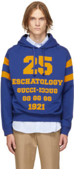 Gucci Blue & Yellow '25 Gucci' Hoodie