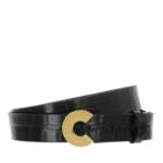 Gürtel Belt Croco schwarz