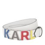 Gürtel Karl Metal Letters Belt weiß