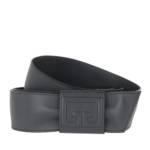 Gürtel Wrap Belt Leather grau