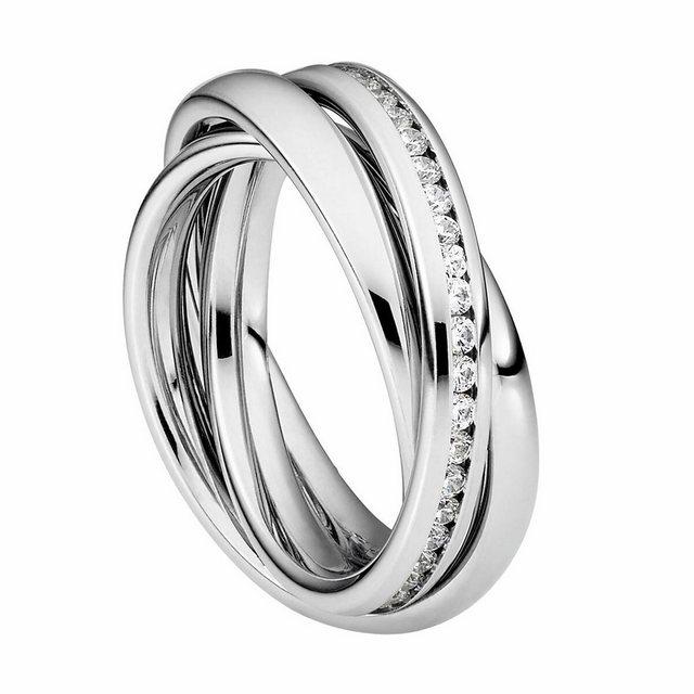 "Heideman Fingerring ""Trini Poliert"" (1-tlg), Rollring 3er ring poliert Wickelring damen"