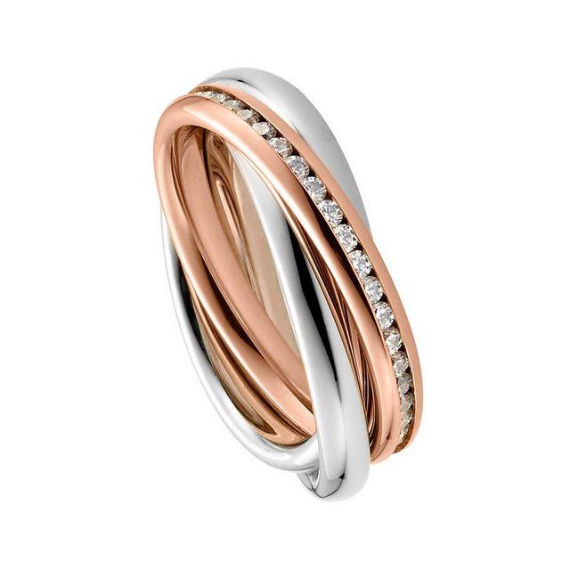 """Heideman Fingerring """"Trini Roségold"""" (1-tlg), Rollring 3er ring rosegold Wickelring damen"""