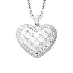 Herzkette für Damen aus Sterlingsilber mit Zirkonia