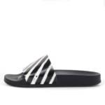 Off-White Spray Stripes Slides Black White (2019)