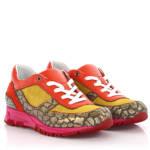 Running Sneaker Velourleder Leder pink