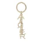Schlüsselanhänger Key Chain Metal gold
