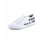Tom Tailor Sneaker weiss 8091003 Damen Leinenschuhe Weiss