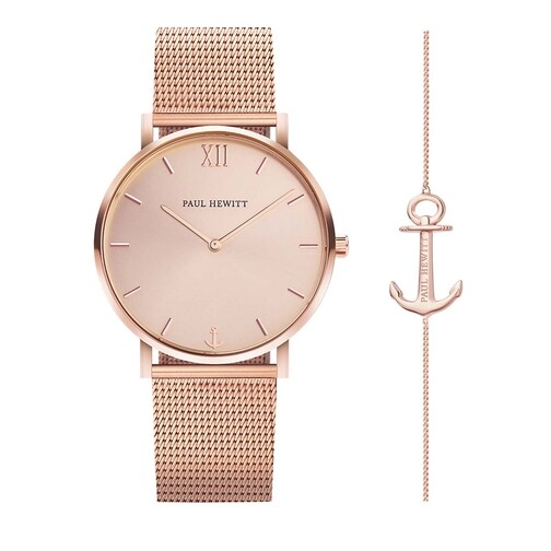 Uhr Set Perfect Match Watch Sailor Line And Anchor Spi rosa