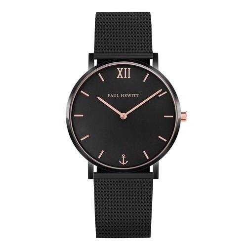 Uhr Watch Sailor Line Mesh Strap schwarz