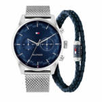 Uhren Gents gift set 2 Sawyer Watch Casual Bracelet silber