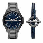 Uhren Watch and Bracelet Gift Set grau