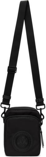 Versace Jeans Couture Black Small V-Emblem Messenger Bag