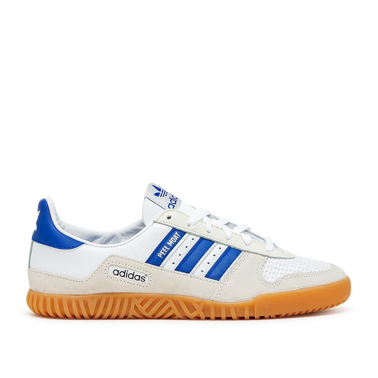 adidas Indoor Comp (Weiß / Blau / Beige)