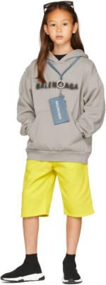 Balenciaga Kids Kids Grey Blurry Hoodie