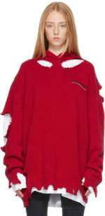 Balenciaga Red Political Campaign Destroyed Hoodie