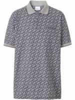 Burberry Poloshirt mit Monogramm-Print - Grau