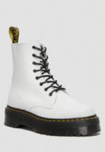 DR. Martens Plateau-Boots Jadon Polished Smooth, Leder, 4 cm weiß