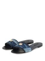 Dolce&Gabbana Pantoletten blau