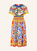 Dolce&Gabbana Seidenkleid gelb