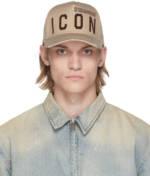 Dsquared2 Beige Be 'Icon' Cap
