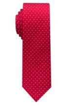 ETERNA Krawatte, Seide, Punkte, 6 cm, für Herren, hellrot