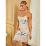 Floral Print Backless Bodycon Dress