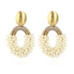 LOTT.gioielli Ohrringe - Glasberry Combi Oval M - in gold - für Damen