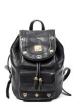 MCM Vintage-Rucksack, 26x22,5x15cm schwarz