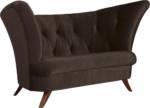 Max Winzer Chesterfield-Sofa Donny, 2-Sitzer mit Knopfheftung, in geschwungener Form