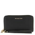 Michael Kors Portemonnaie - Large Flat Mf Phn - in schwarz - für Damen