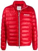 Moncler Daunenjacke mit Reißverschluss - Rot