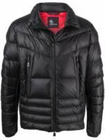 Moncler Grenoble funnel neck zip-up down jacket - Schwarz