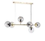Orb Pendelleuchte / Horizontale - L 114 x H 42 cm - Bolia - Gold/Transparent