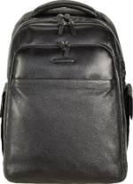 Piquadro, Modus Rucksack Leder 43 Cm Laptopfach in schwarz, Rucksäcke für Herren