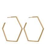 Rachel Jackson London Ohrringe - Oversized Hex Hoops - in gold - für Damen