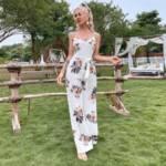 Split Thigh Belted Floral Cami Jumpsuit