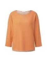 TOM TAILOR Damen Pullover mit leichten Fledermausärmeln, orange, Gr.XS
