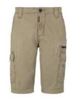 TOM TAILOR Herren Cargo Bermuda-Shorts im Washed-Look , beige, Gr.40