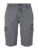 TOM TAILOR Herren Cargo Bermuda-Shorts im Washed-Look , blau/grau, Gr.29